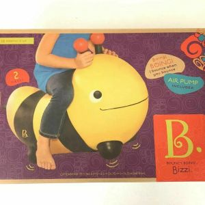 BOUNCY BOING BIZZI BUMBLE BEE Inflatable Ride On Bounce Toy New in box B. Battat