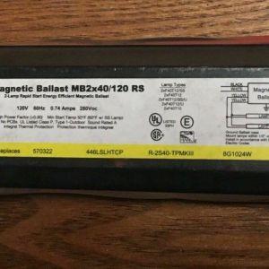 Sylvania MAGNETIC BALLAST MB2x40/120 RS unused