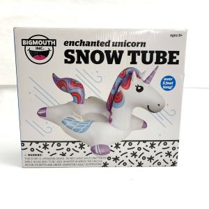 Bigmouth Big Snow Tube 5 Feet Enchanted Unicorn Inflatable Winter Sled Outdoor