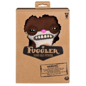 "Fuggler Funny Ugly Monster 9"" SKETCHY SQUIRREL Brown Felt NEW"