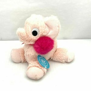 Manhattan Toy Co Floppies Holiday Elephant Pink Stuffed Animal NWT Cozy Soft