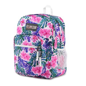 "Trans by JanSport 17"" Supermax Backpack Monstera Vibes, Floral School Travel 36L"