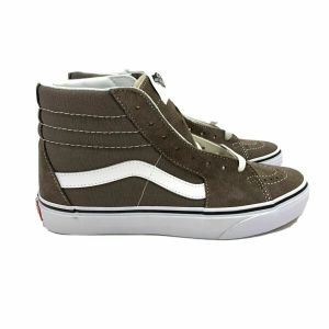 Vans SK8-Hi Lace Up Shoes Falcon (tan) / white Mens 7.5