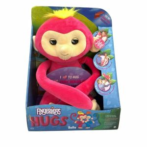 Fingerlings Hugs Bella Friendly Interactive Plush Monkey Pink NEW