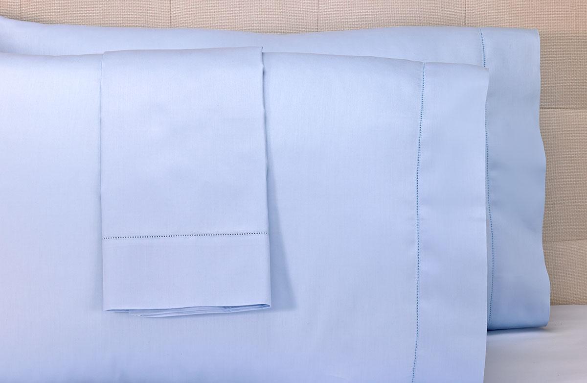marriott blue hemstitch pillowcases