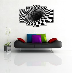 White & Black Hole Wall Canvas