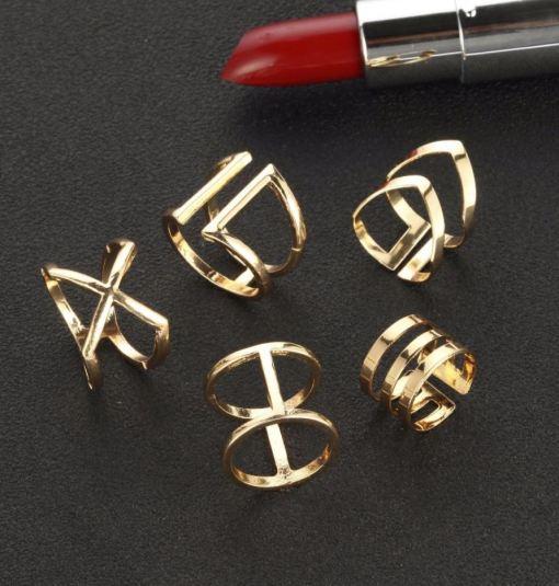 Finger Rings Set 5 PCS