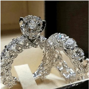 crystal ring set