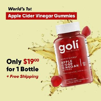 Sponsored by Goli goli apple cider vinegar gummy
