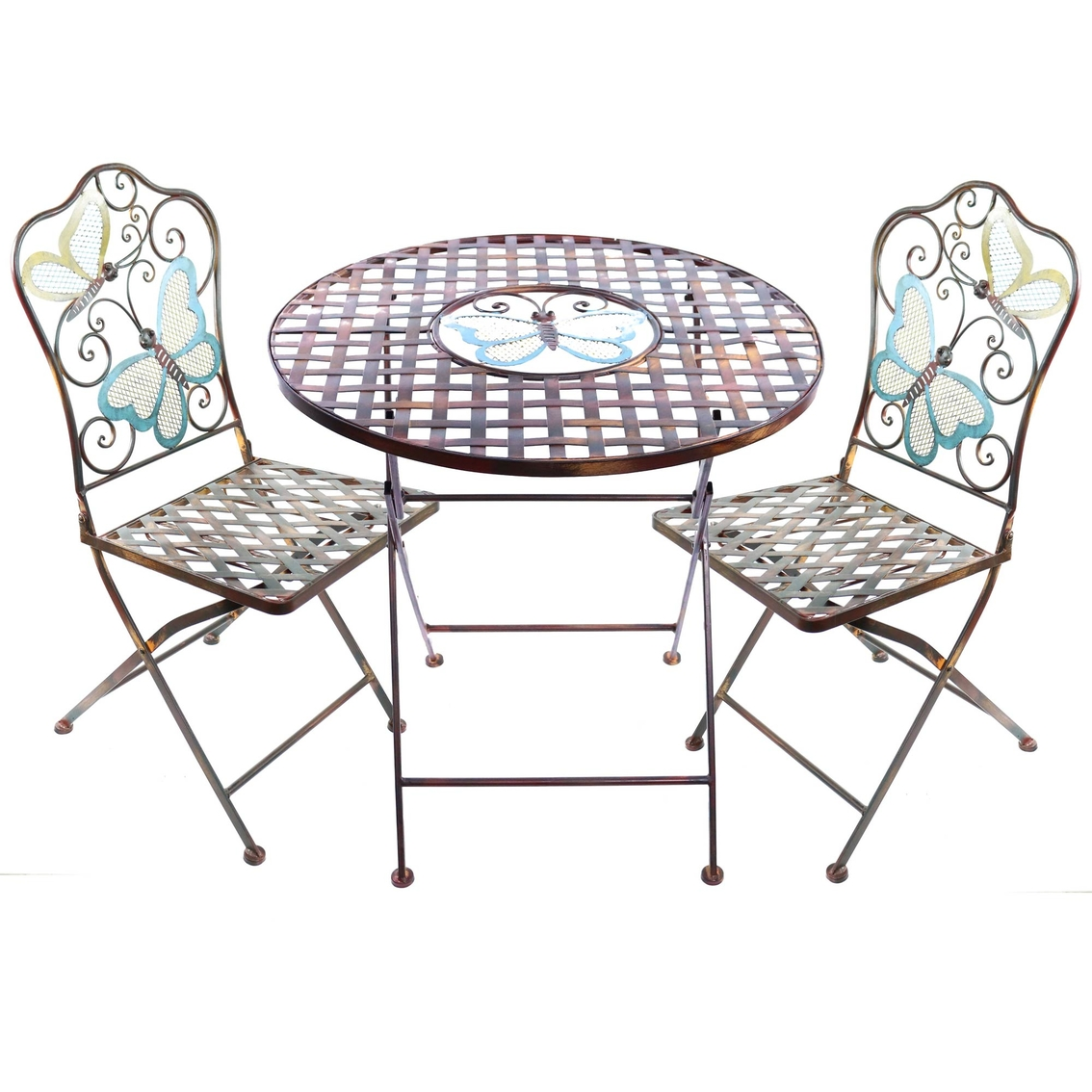 alpine butterfly bistro table and two