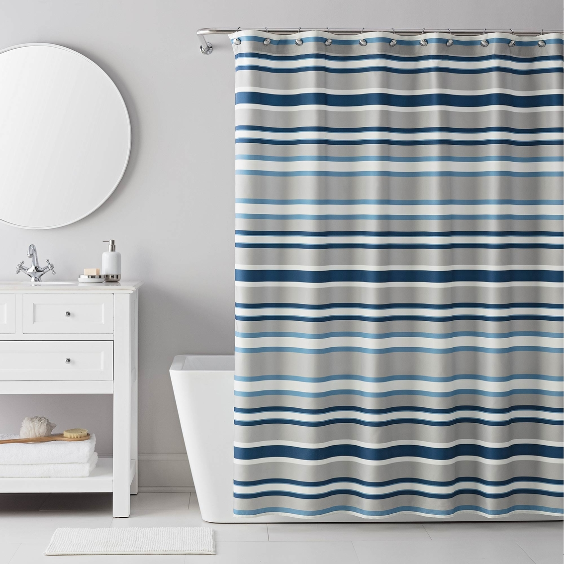 Izod Bradley Stripes Shower Curtain And Rings Set Shower
