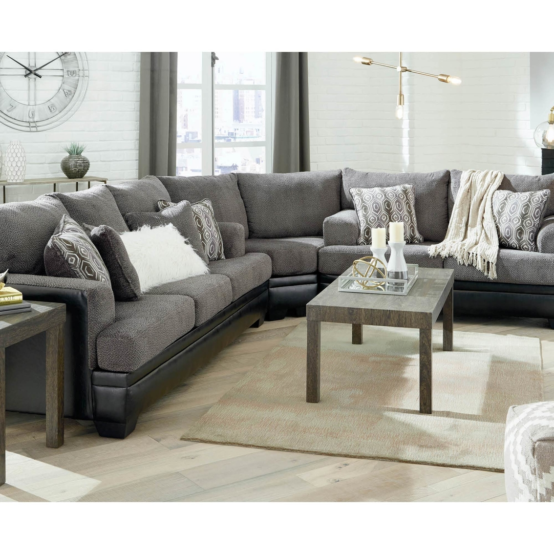 signature design by ashley millingar 3 pc sleeper sectional sofa loveseat wedge