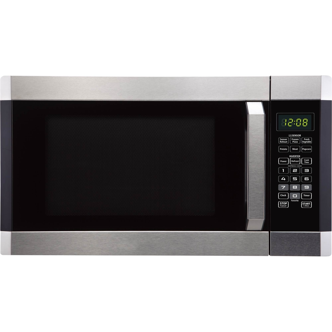 simply perfect 1 6cf microwave oven w inverter function stainless steel
