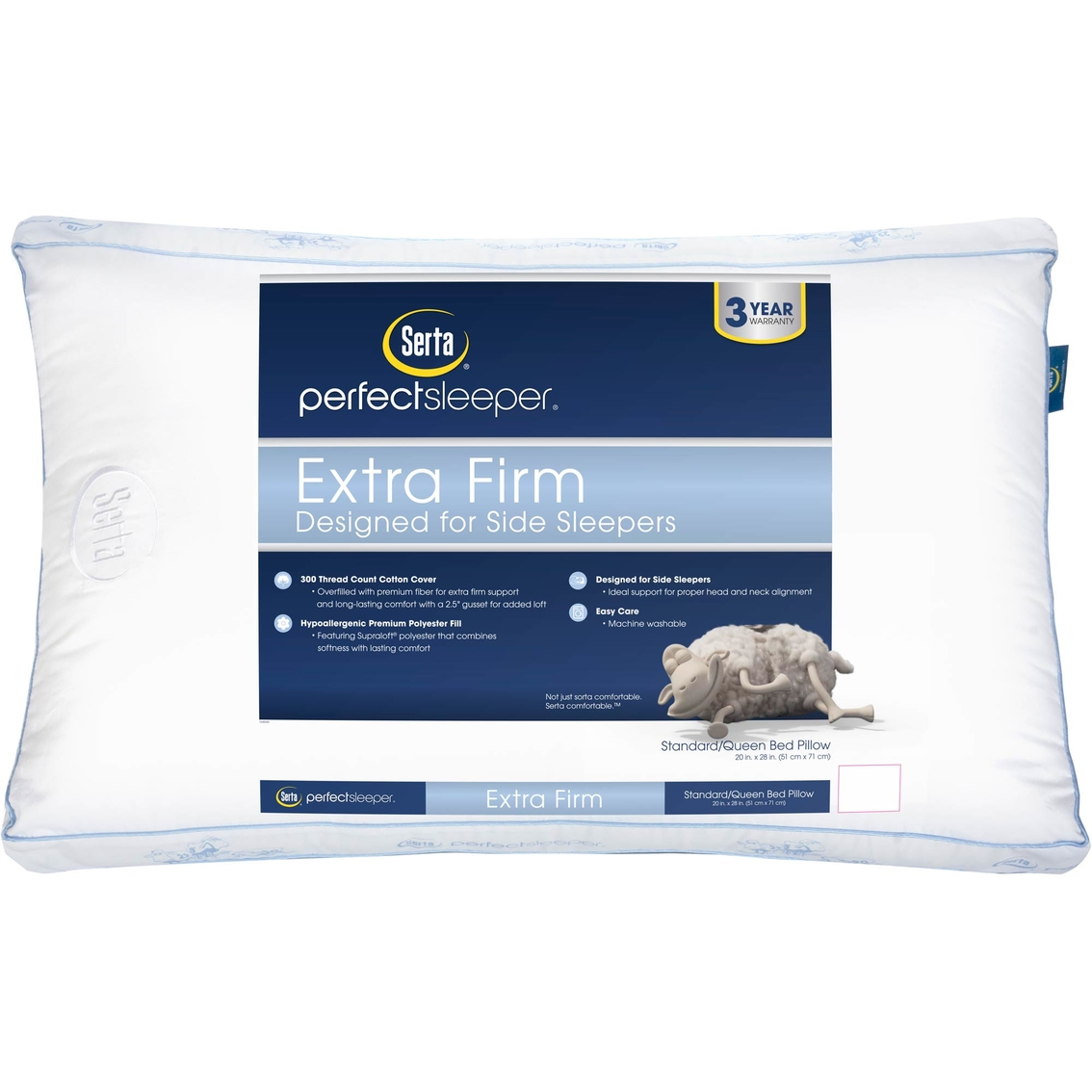 serta perfect sleeper extra firm pillow