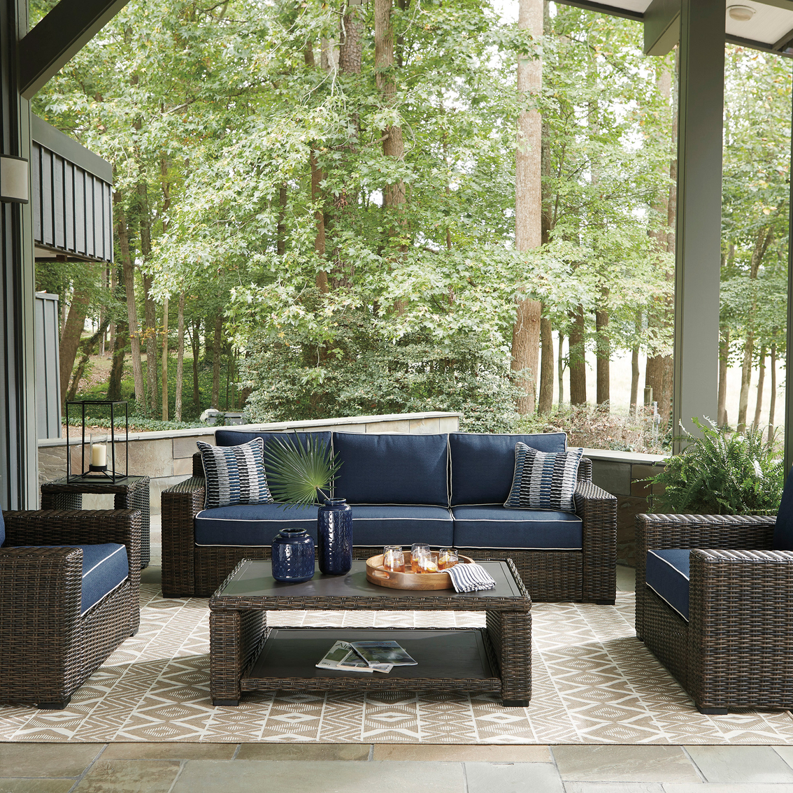 Signature Design By Ashley Grasson Lane 5 Pc. Outdoor ... on Outdoor Living Shop id=15764