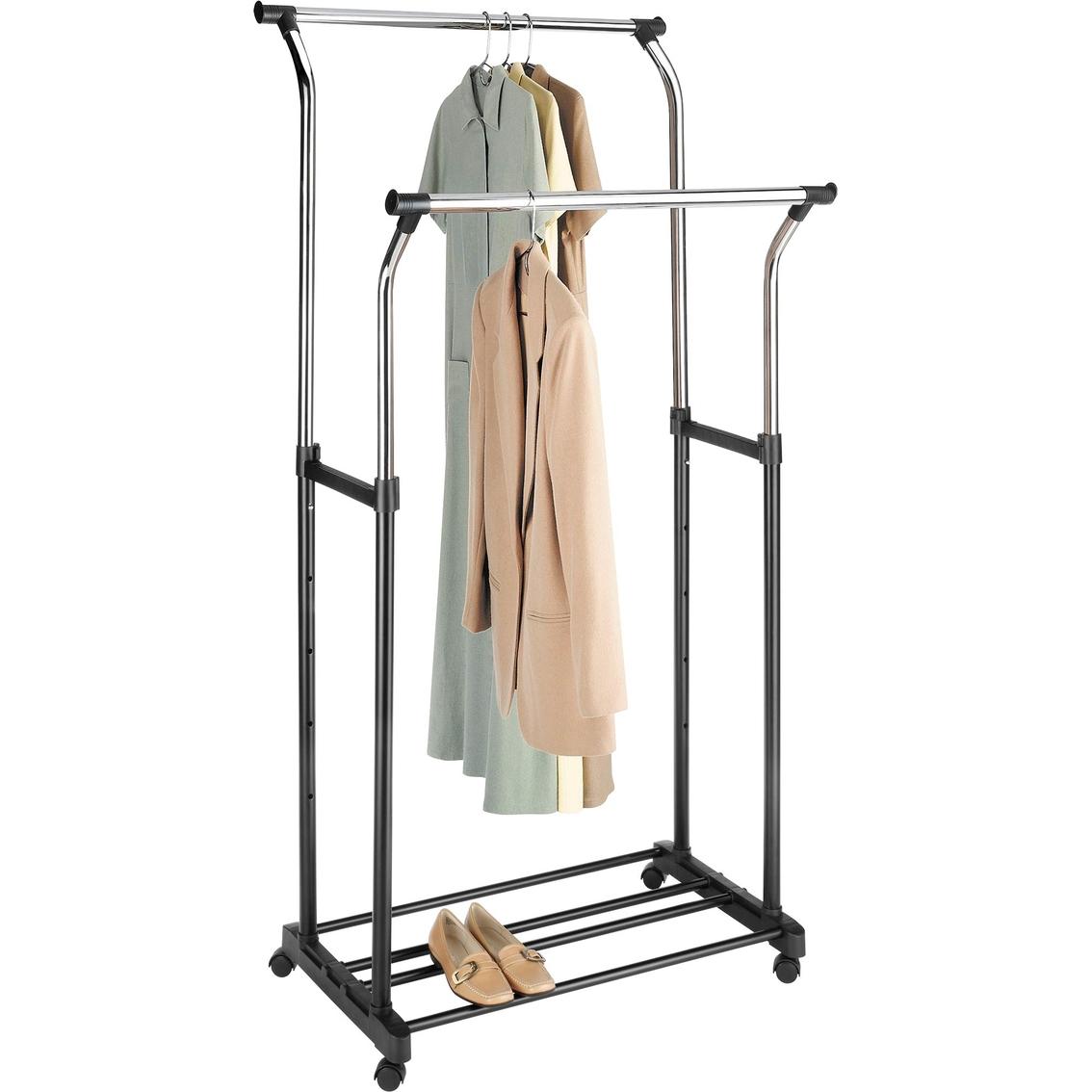 whitmor double adjustable garment rack closet organization household shop the exchange