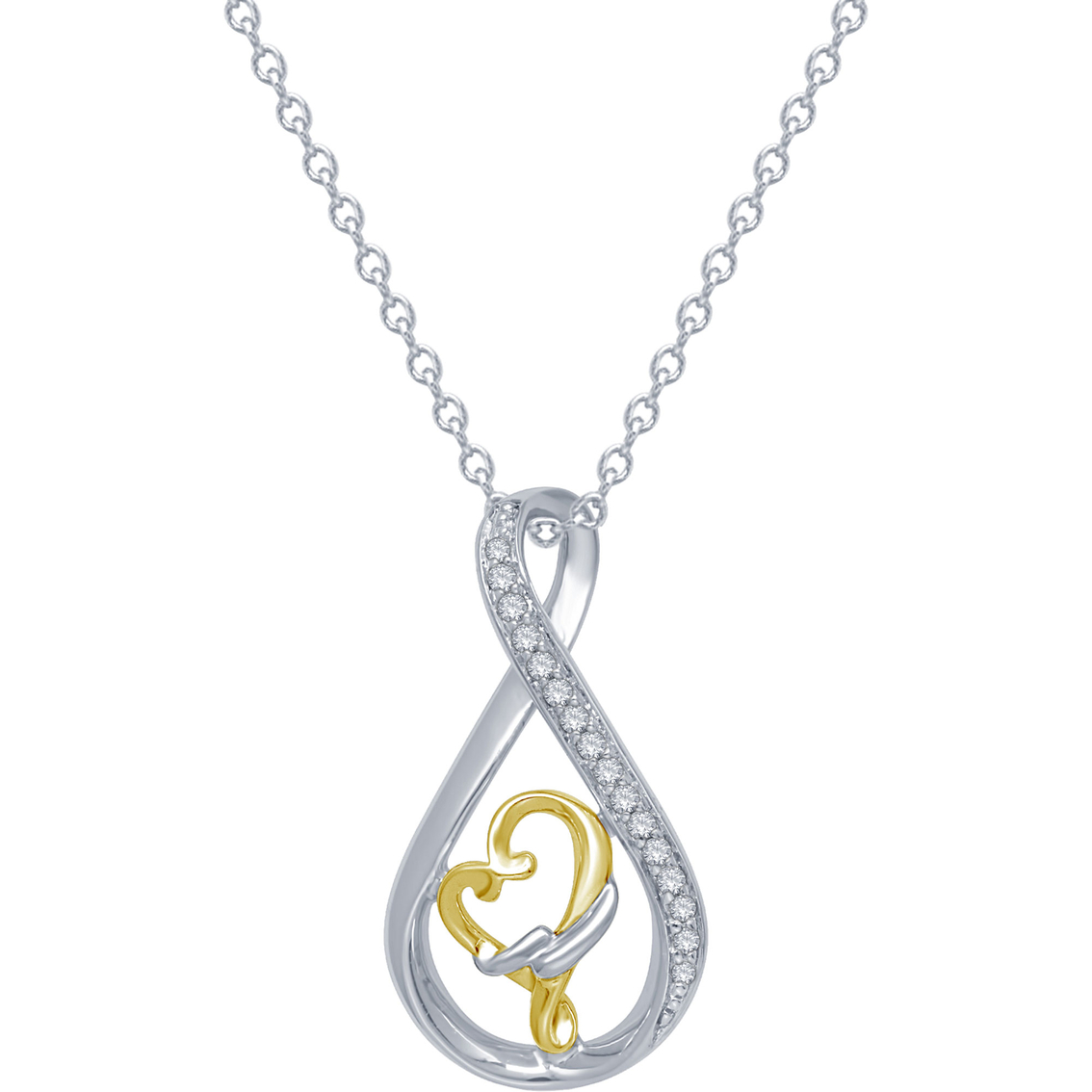 Loving Arms Sterling Silver 14k Gold 1 10 Ctw Vermeil