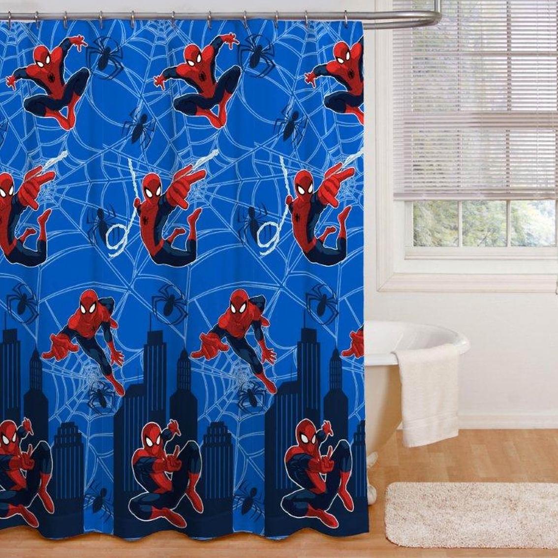 marvel spider man shower curtain