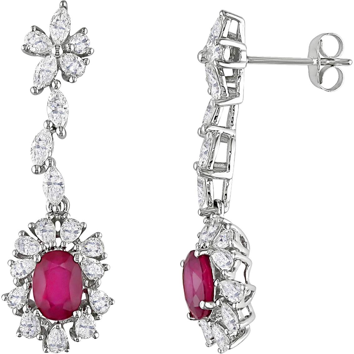 Sofia B 14k White Gold 2 1 10 Ctw Diamond And Ruby