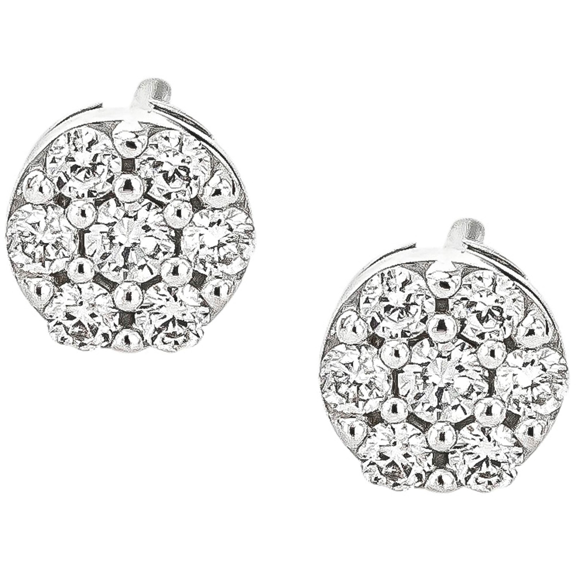 10k White Gold 1 10 Ctw Diamond Stud Earrings