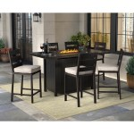 Ashley Perrymount Fire Pit And Bar Table With 6 Barstools Patio Sets Patio Garden Garage Shop The Exchange