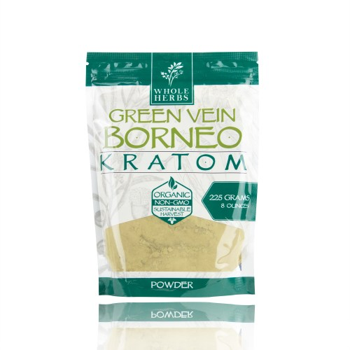Whole Herbs Kratom Powder Green Vein Borneo