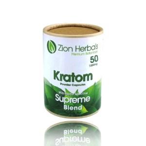 Zion herbals kratom powder capsules