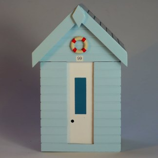 Beach Hut Storage Box in Pastel Blue