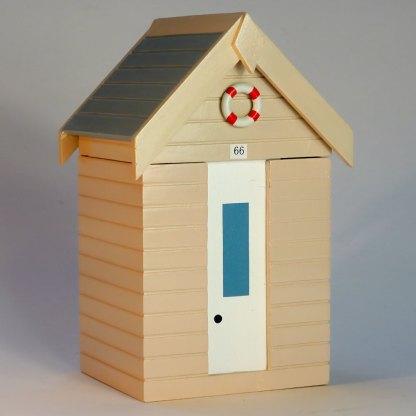 Beach Hut Storage Box in Pastel Sand