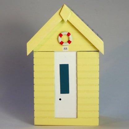 Beach Hut Storage Box in Pastel Yellow
