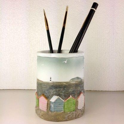 British Beach Huts Pen Pot