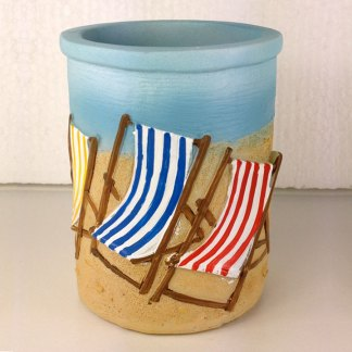 Deckchairs Pen Pot
