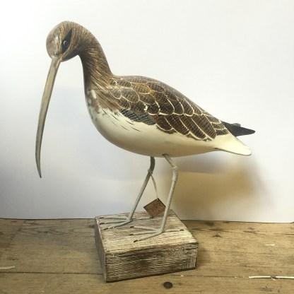 Curlew Bird Sculpture Ornament Coastal Interior