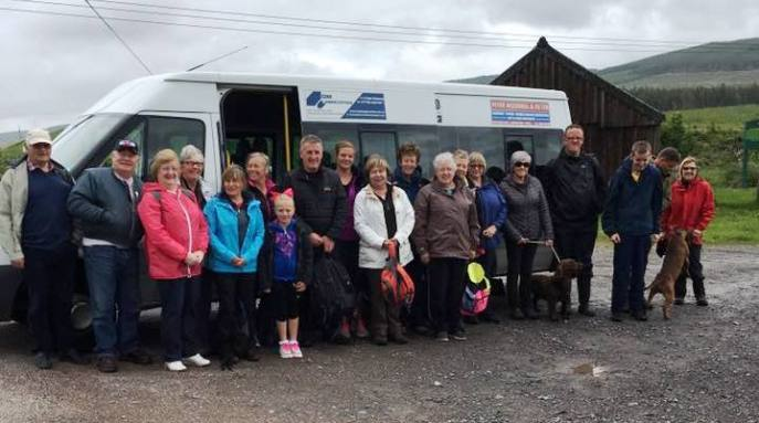 gathering for a sponsored walk