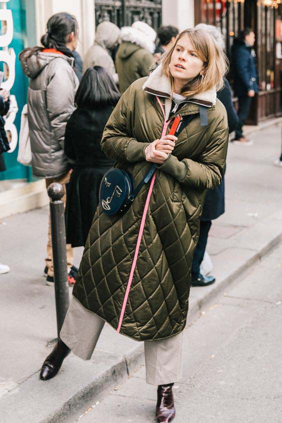 How to wear Quilted Coats trend