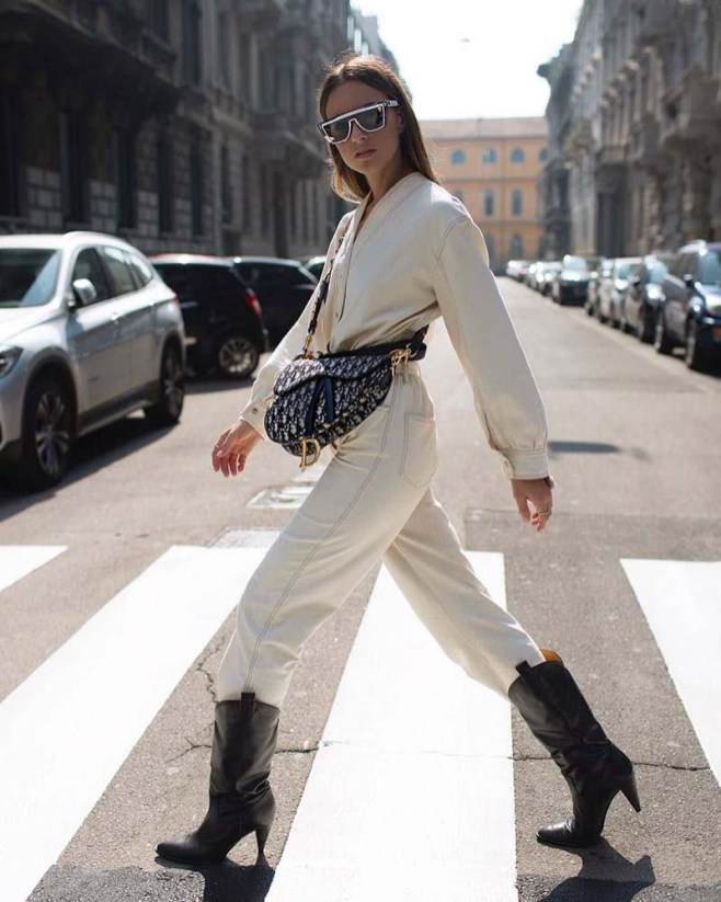 Cowboy boots trend street style outfit