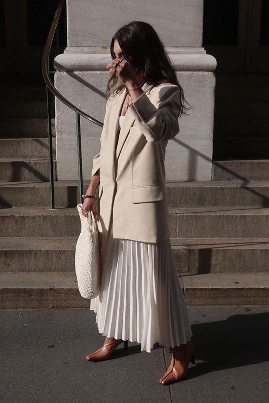 Plooirok combineren outfit inspiratie