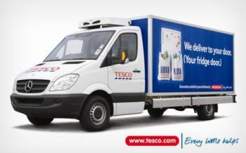 Tesco grocery van