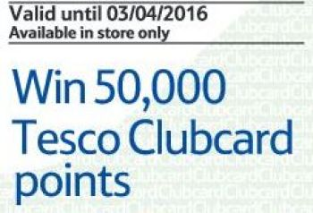 win 50000 tesco clubcard points