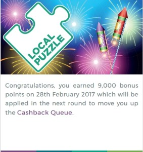 local puzzle 9000 bonus points