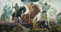 Food Insurance _Four Horsemen of Apocalypse, by Viktor Vasnetsov. Painted in 1887, source: [4]