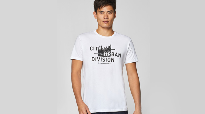 best printed typography white t-shirt