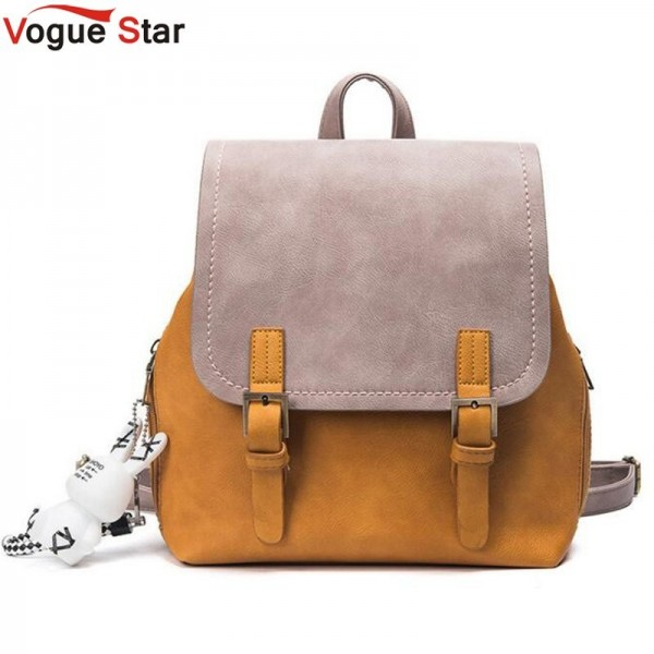 Buy New Vogue Star Fashion Backpack For Women Genuine Pu Leather     New Vogue Star Fashion Backpack For Women Genuine Pu Leather Female  Shoulder Bag Girls School Bags