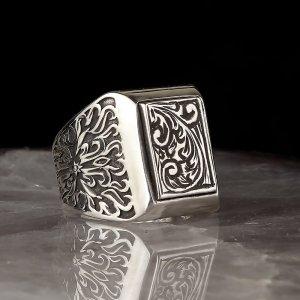 خاتم فضة تركي صناعة يدوية