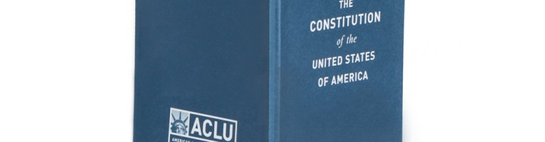 Free ACLU Pocket Constitution of The USA Booklet