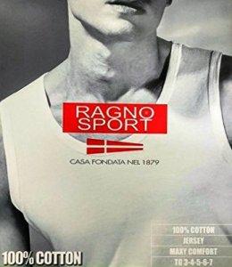 Canotta spalla larga 100% cotone Ragno Sport