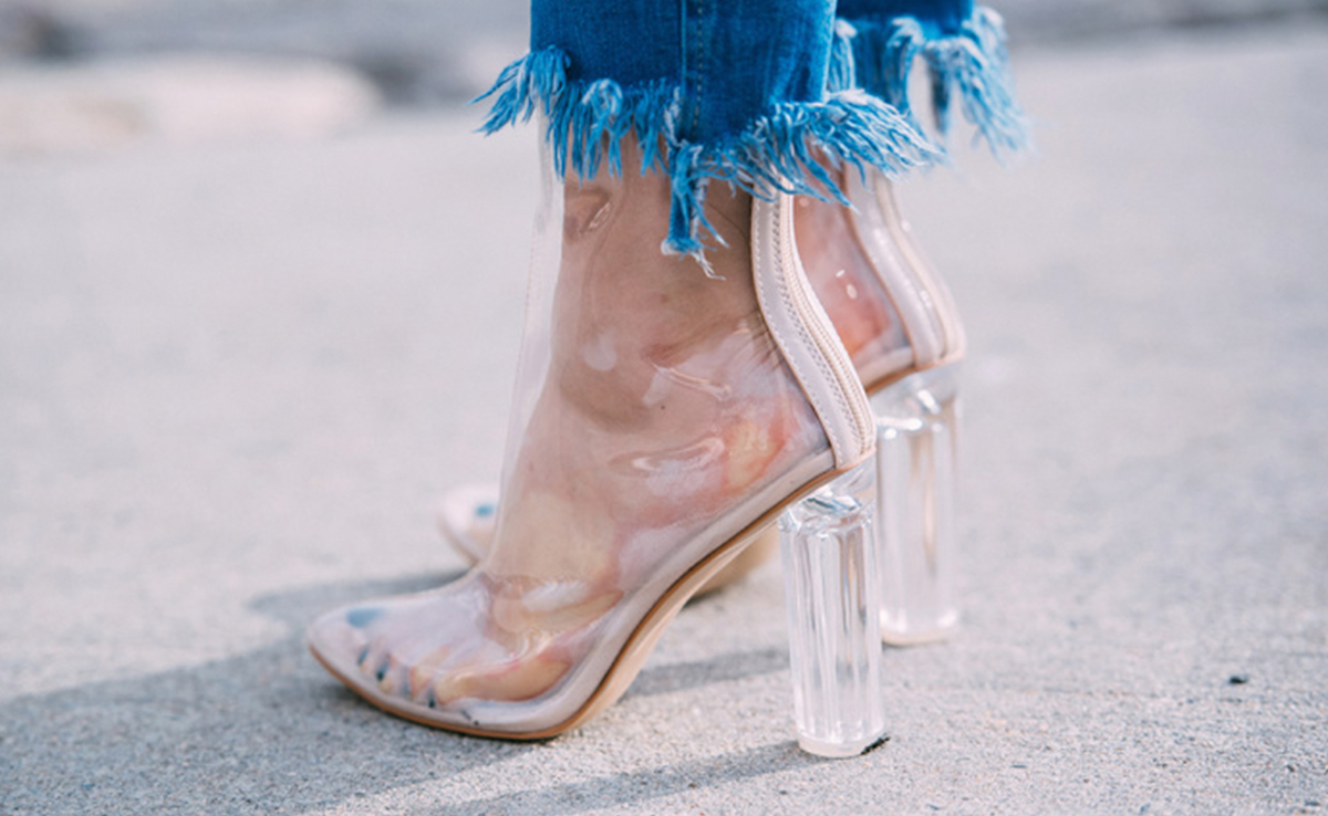Image result for clear court heels style