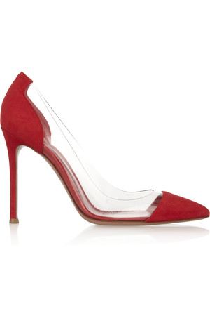 Gianvito Rossi Suede And Pvc Pumps Intl Shipping