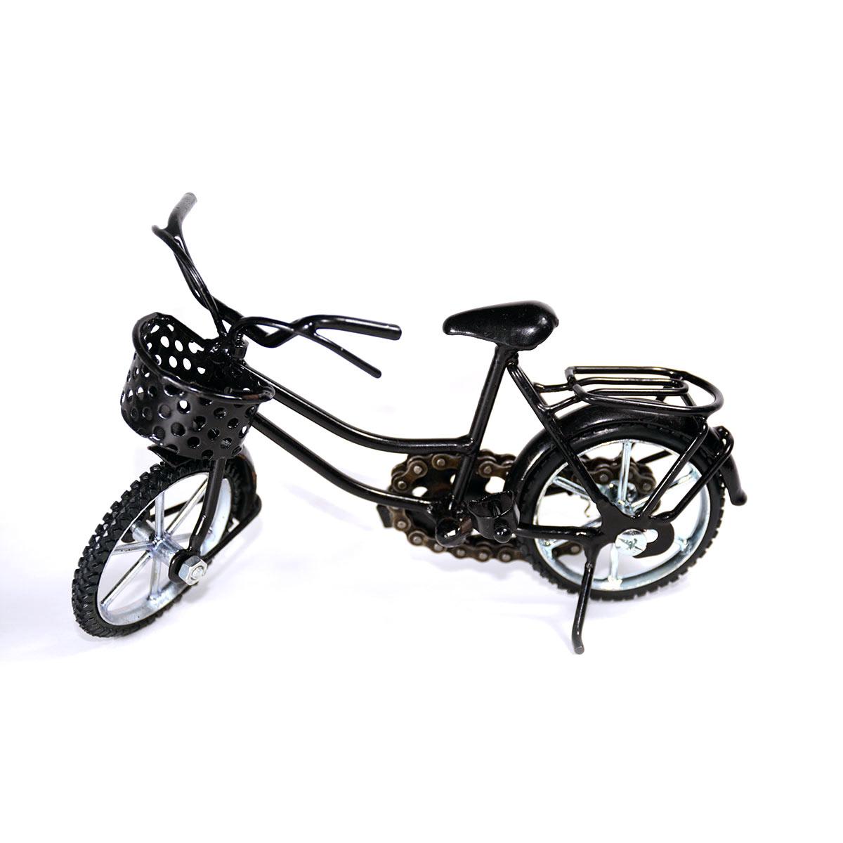 Girl Bicycle Metal Sculpture
