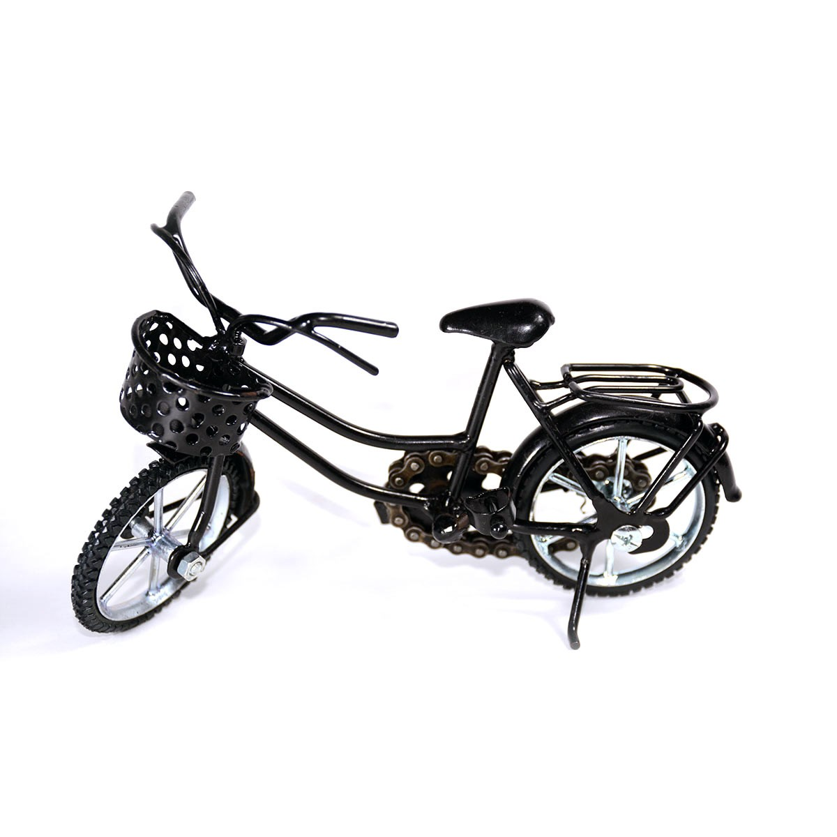 Girl Bicycle Metal Sculpture Model